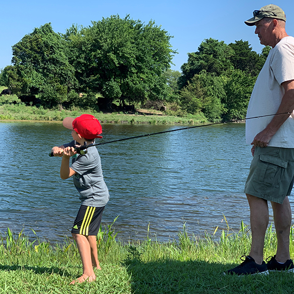 "First Kid Fishing Day A ""Whopper"""