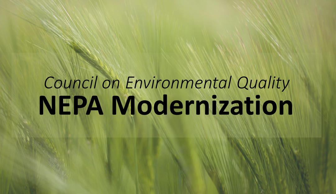 DSC Supports Modernizing Federal Environmental Reviews