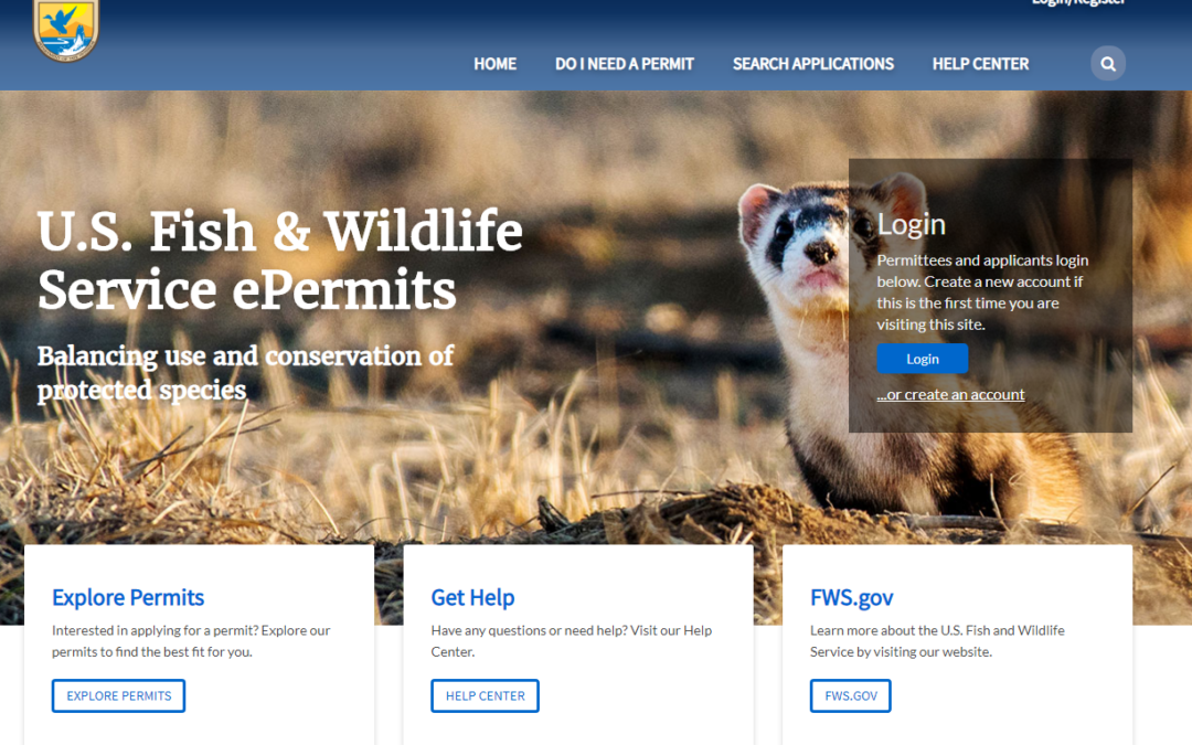 USFWS Launches Electronic Permit System