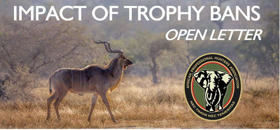 APHA Open Letter: Impact of Trophy Bans