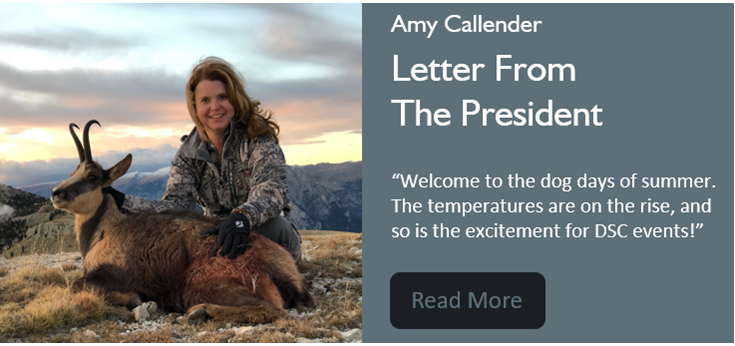 A Hot Time in August – President's Message July Issue