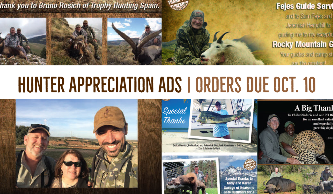 Show Your Appreciation for a Great Hunt